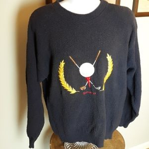 Vintage Scottish Isle golf sweater